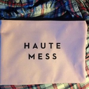 Haute mess milly make up bag purse